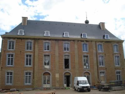 Restauration d'une façade à Gulpen